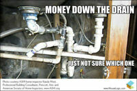 Journeyman Plumber 20 years Drain cleaning Any sink $90  24HOUR