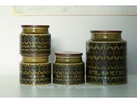 70s Retro Hornsea Heirloom in Green | Cups, storage jars etc | From £5 per item