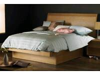"Beautiful Ash & Bamboo Double Ottoman Bed: Hyder ""The Naples"" £250 ono"