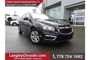2015 Chevrolet Cruze 1LS LOW KMS & ACCIDENT FREE