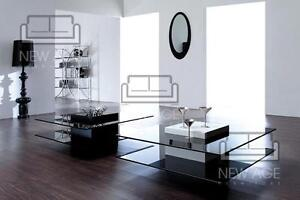 Sq Glass Elegant Coffee Table