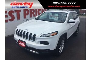 2015 Jeep Cherokee Limited 4X4, REMOTE STARTER, SUNROOF