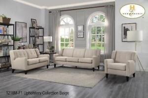 Contemporary Upholstery Sofa Set in Beige (MA685)