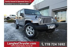 2014 Jeep Wrangler Unlimited Sahara LOCALLY DRIVEN, ONE OWNER...