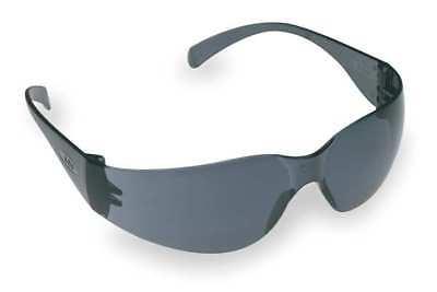 3M 3M Gray Safety Glasses, Scratch-Resistant, Wraparound,