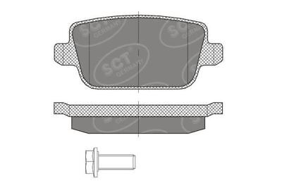 Rear Brake Pads for Ford, Volvo
