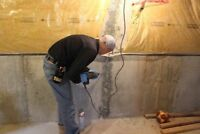 Leaking basement we have your permanent solution!
