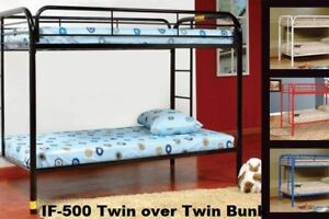 Bunk Bed IF-500 metal Twin/Twin $229.00 Black,White,Red,Blue