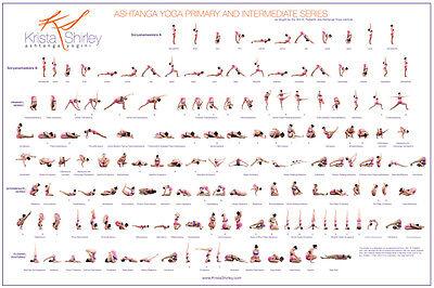 Ashtanga Yoga Poster: Primary and Intermediate Series featuring Krista Shirley