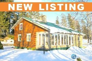 NEW LISTING! Private chalet retreat on 4.12 ac, 8 mins to town.