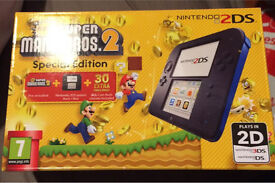 2ds with super mario bros 2 game brand new