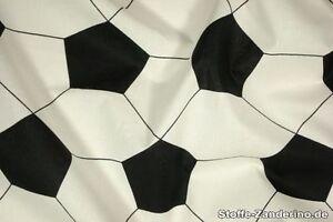 Fußball, Druck, schwarz - weiss, 140cm