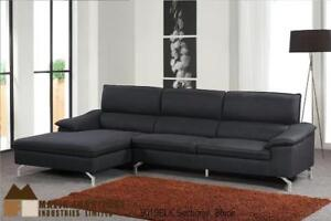 Modern Black Fabric Sectional | Sectional on Sale (MA313)