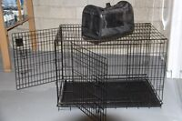 XL size pet cage and a pet tote
