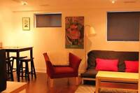 Bright, Private Furnished Basement Suite - avail Sept 1