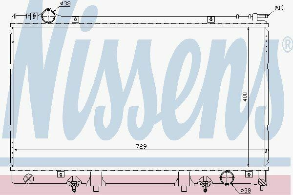 Nissens 645951 Radiator LEXUS LS400  95-00