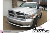 2012 RAM 1500 Sport (Lifted, leather, Roof, Nav)