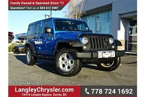 2014 Jeep Wrangler Unlimited Sahara W/ LEATHER, HEATED SEATS...