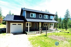 Beautiful House and  Private Acreage South Castlegar