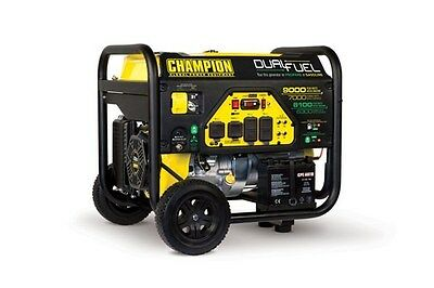 100155R - 7000/9000w Champion Power Equipment Dual Fuel Generator - REFURBISHED