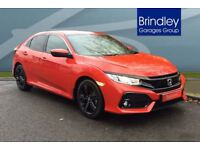 HONDA CIVIC 1.0 VTEC Turbo SR 5dr (red) 2017
