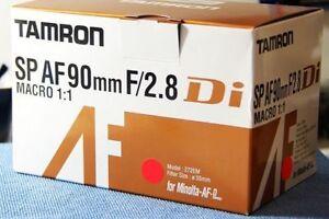 Tamron 90mm f2.8 Di Macro for Sony/Minolta A-mount 272E