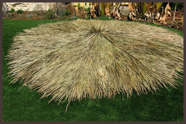 7 FT TIKI THATCH PALAPA PALM GRASS RESORT GRADE