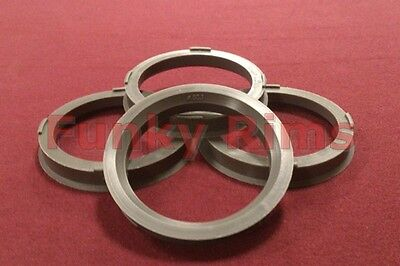 Spigot Rings Set 4 for Aftermarket Alloy Wheels 73.1mm - 60.1mm Toyota MR2 Supra