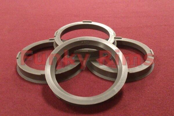 Spigot Rings Set 4 Aftermarket Alloy Wheels 73.1mm - 60.1mm Renault Clio Megane