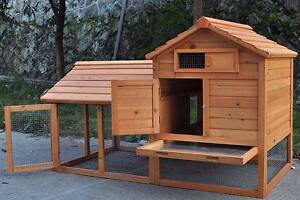 Giant Rabbit Hutch, Guinea Pig cage Ferret House or Chicken Coop Mordialloc Kingston Area Preview