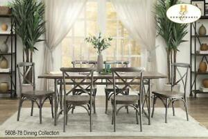 Wood and Metal Dining Set - Furniture Sale (BD-2380)