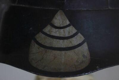 Japan Antique Kabuto Helmet Samurai Armor Edo Iron, Black lacquer, Gold paint