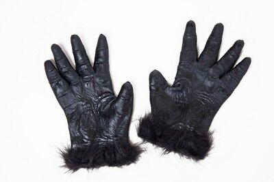 FM - Kostüm Zubehör Gorilla Hände zum Affenkostüm Karneval (Affen Hände Kostüm)