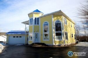 Unique custom home with turret entrance & 5 mins to Parlee beach