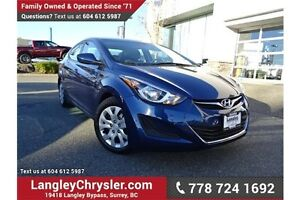 2016 Hyundai Elantra GL ACCIDENT FREE w/ HEATED SEATS