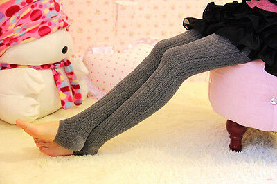 Women Winter Cable Knit Sweater Footed Tight Warm Stretch Stocking Pantyhose Vy