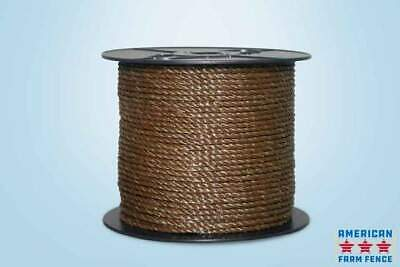 Electric Fence Polyrope 14 X 660 Brown