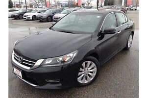 2013 HONDA ACCORD EX-L - LEATHER INTER - SUNROOF - REARVIEW CAM