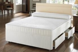 ***same day cash on delivery** Brand New Double and King Divan bed With White Orthopedic Mattress