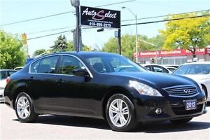 2012 Infiniti G25x AWD ONLY 63K! **CLEAN CARPROOF** BACK-UP CAM