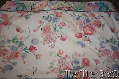 (Shabby Cottage Chic Watercolor Floral Twin Flat Bed Sheet Fabric Material L2)
