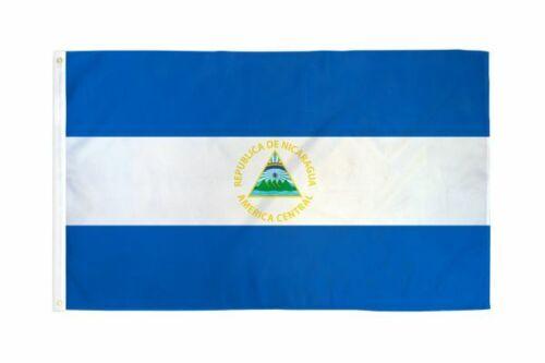 SALE TIME The Nicaragua Flag, horizontal triband of Azure, 3 X 5 ft  BRAND NEW !