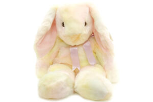 Hippie the Large Tie-dye Bunny Ty Beanie Buddy - 17 inches tall