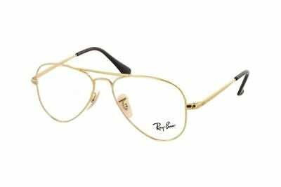 Brille Vista Ray Ban Aviator Junior RY1089 4051 Gold Cal.52 (für Kinder @ S)