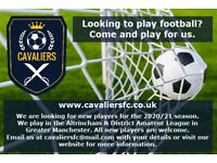 WANT TO PLAY FOOTBALL IN GREATER MANCHESTER? WE ARE LOOKING FOR NEW PLAYERS