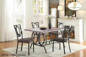 Unique Metal Framed Dining Set (MA339)