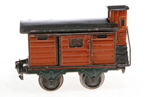 AC1295: Vintage Märklin Gauge 1 Covered Luggage Wagon with Brake Hut 1804/1