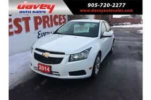 2014 Chevrolet Cruze 1LT REMOTE STARTER, BLUETOOTH, MP3 INPUT