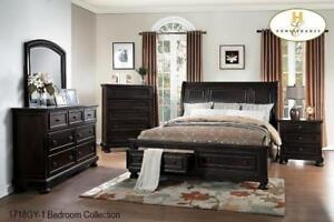 SOLID WOOD BEDROOM FURNITURE CANADA WITH STORAGE (MA2301)