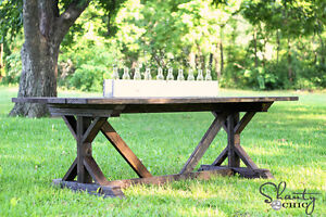 I want to build a rustic farmhouse dining room table for you!